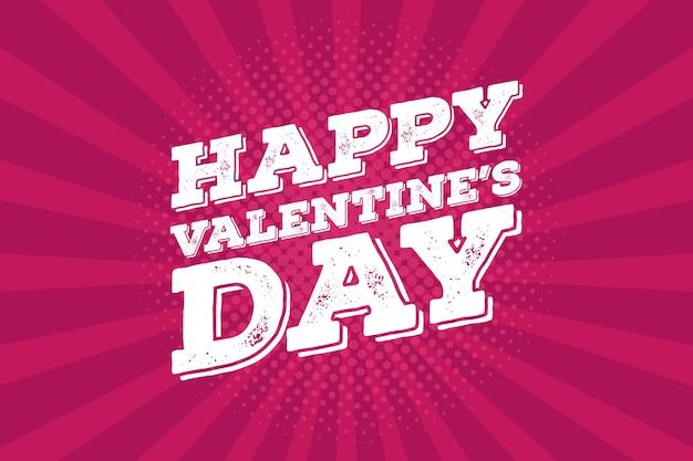 발렌타인 데이 빈티지 주석 기호 디자인 컨셉입니다. 사랑 테마 레트로 포스터입니다.