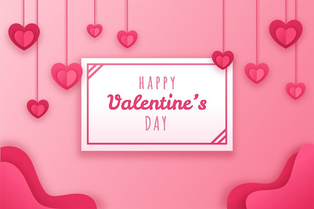 Valentines day wallpaper in paper style