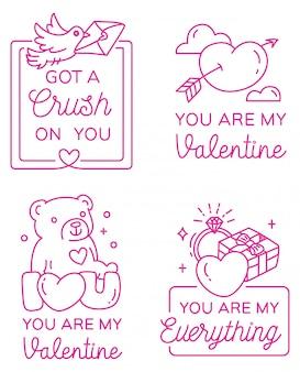 Valentines greeting badge