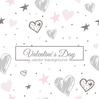 Valentines heart seamless pattern