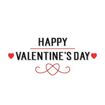 創造的な心のバレンタインレタリング