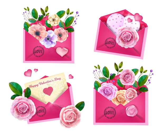 Valentines, mothers day  love letters Premium Vector