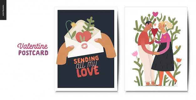 Valentines postcards