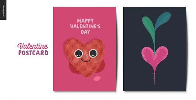 Valentines postcardsset
