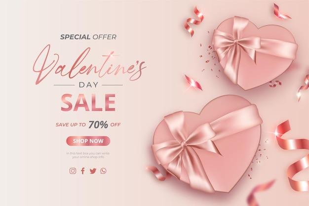 현실적인 선물 발렌타인 판매 특별 제공 배너