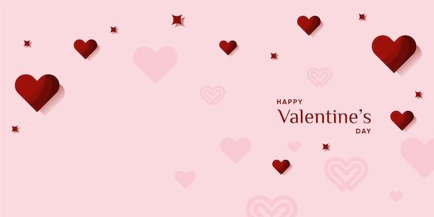 バレンタインベクトルの背景とモダンでかわいいコンセプトプレミアムベクトル