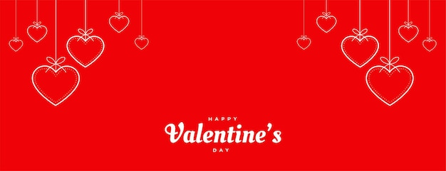 Bandiera decorativa rossa dei cuori di giorno di valentins