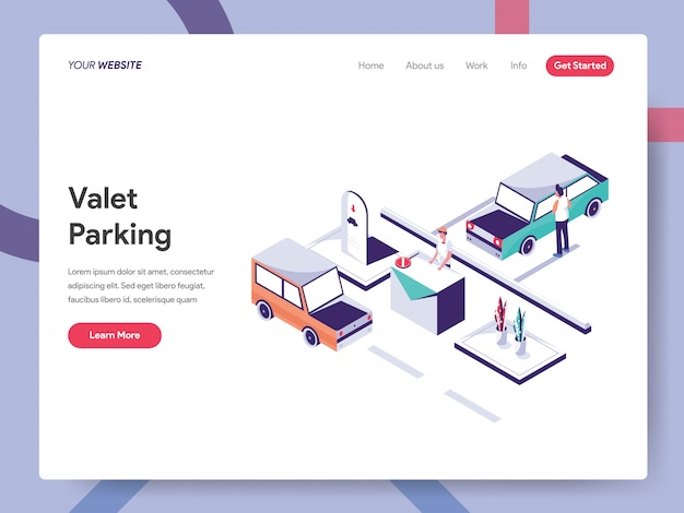 Valet parking landing page