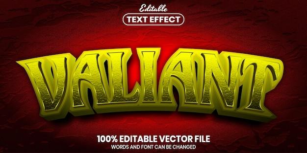 Valiant text, font style editable text effect