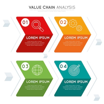 Value chain chart concept