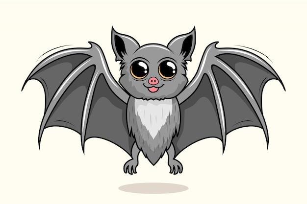 Vampire bat cartoon cute animals