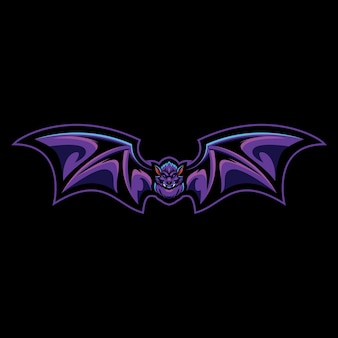 Vampire bat esport logo illustration