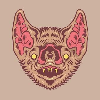 Vampire bat vector illustration