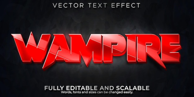 Vampire blood text effect, editable red and horror text style