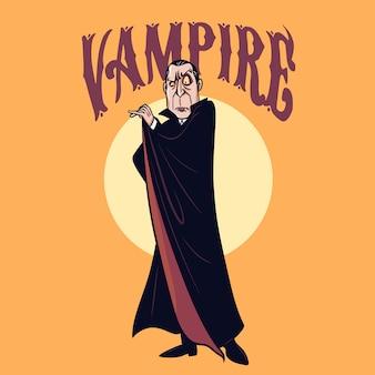 Vampire character for halloween