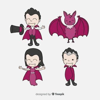 吸血鬼のキャラクターセット