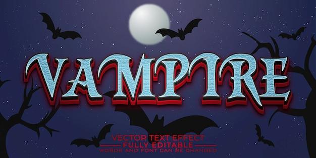 Vampire editable text effect template