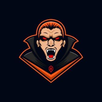 Шаблон дизайна логотипа вампира киберспорта