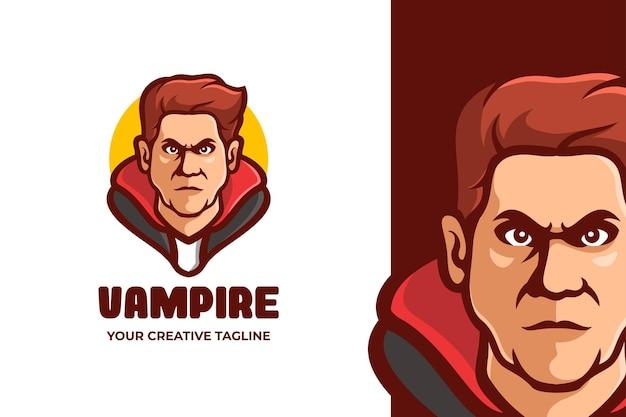 뱀파이어 남자 마스코트 캐릭터 로고