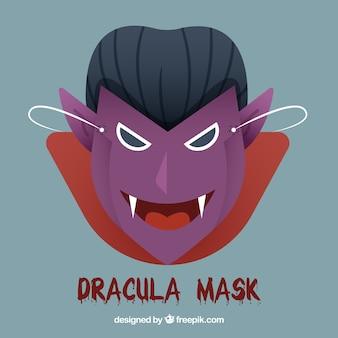 Vampire mask in flat design