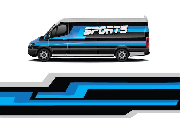 Дизайн наклейки на автомобиль фургон