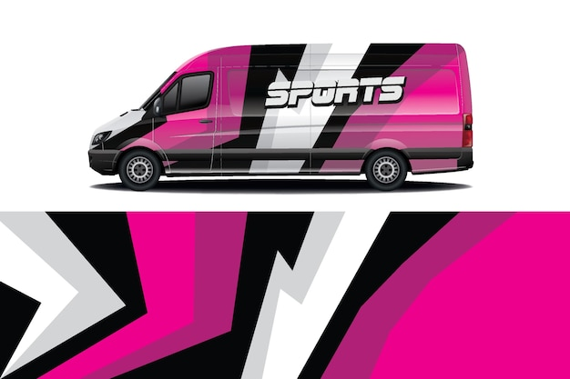 Дизайн наклейки на автомобиль van