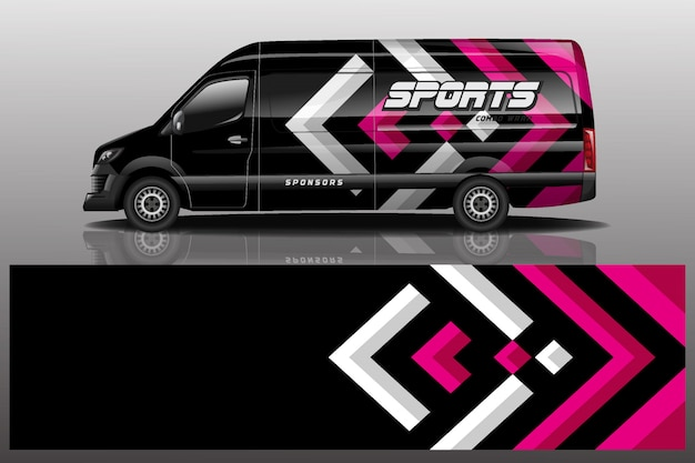 Van car decal wrap illustration