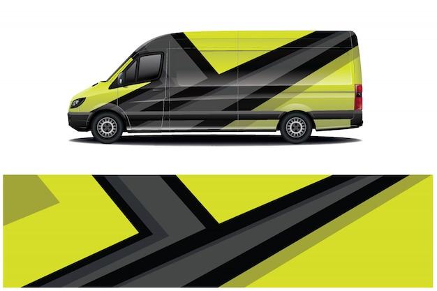 Фургон наклейка дизайн упаковки