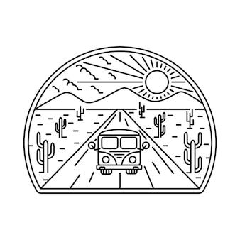 Van desert mountain nature  illustration