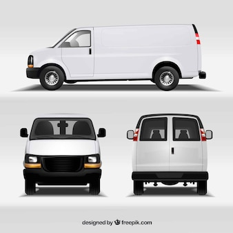 Van in different views