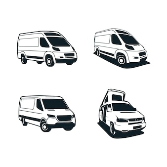Van illustration silhouette