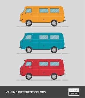 Фургон в 3-х разных цветах