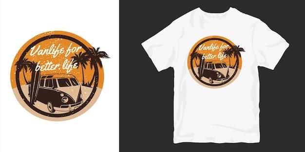 Дизайн футболок van life для лучшей жизни