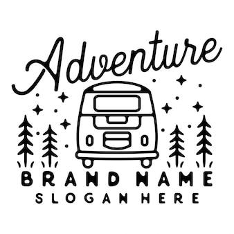 Фургон monoline винтажный наружный дизайн