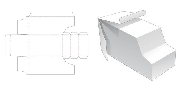 밴 모양의 상자 다이 컷 템플릿