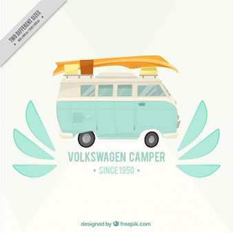 Van and surf, background