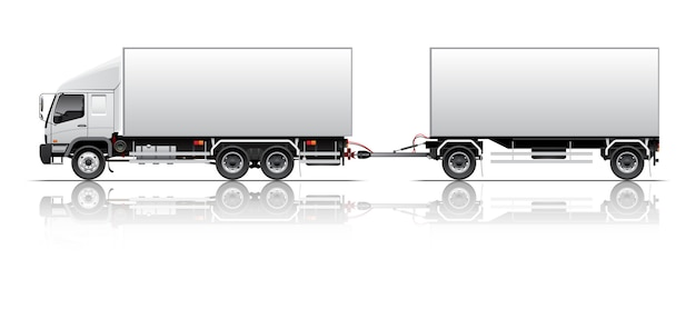 Van trailer illustration