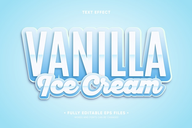 Vanilla ice cream text effect