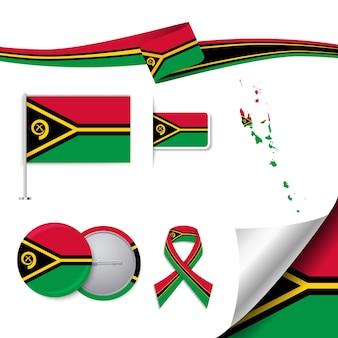 要素を持つバヌアツの旗