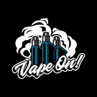 Иллюстрация логотипа талисмана vape