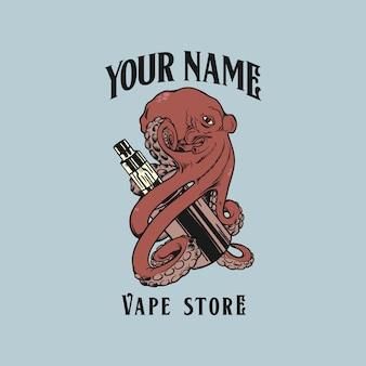 Логотип vape octopus hug мод vape logo