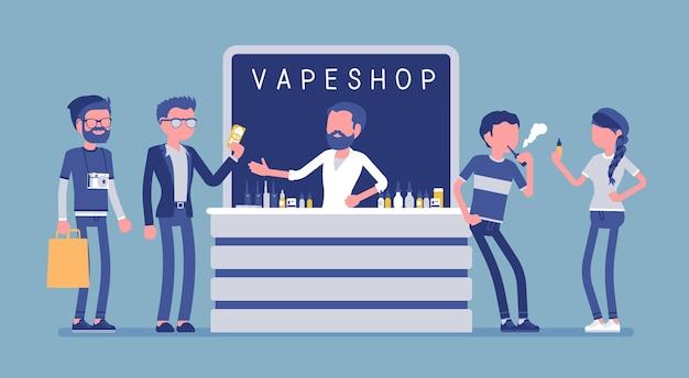 Vape shop business illustration