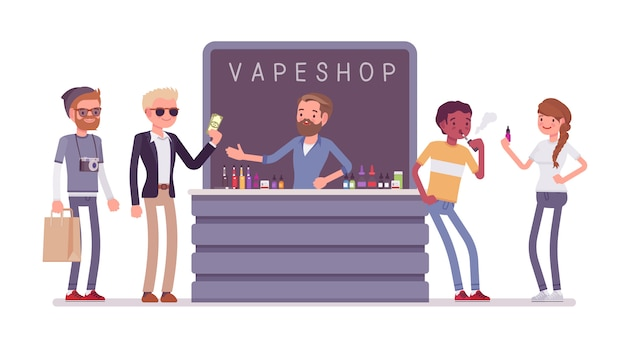 Vape shop business store