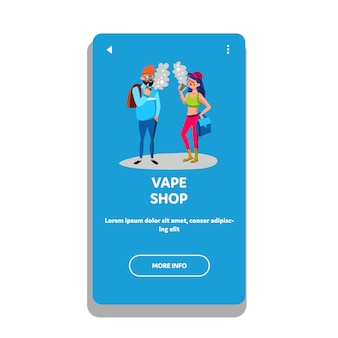 Клиенты vape shop vaping e-cigarette device