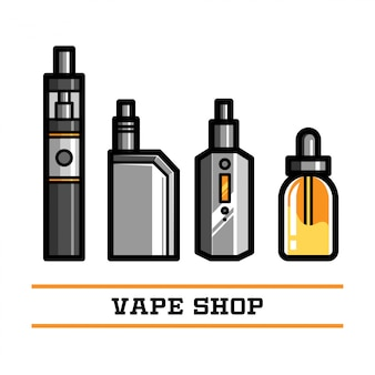 Vape shop vector element