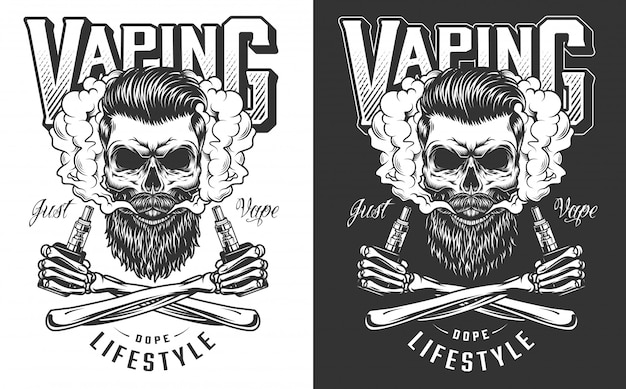 Vaping apparel illustration