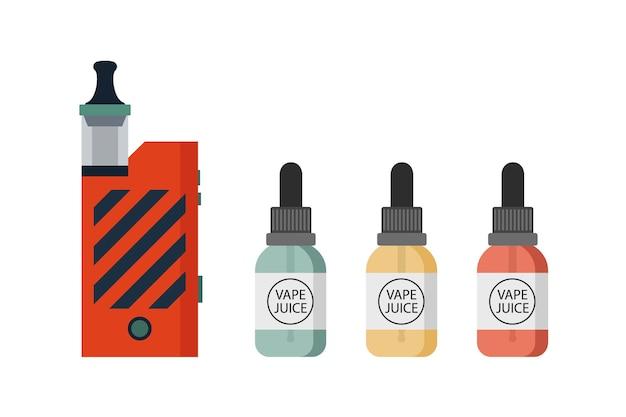Устройство для вейпинга и набор аксессуаров электронная сигарета и бутылки с жидкостью для вейпинга