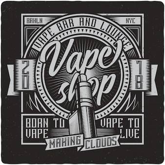 Vaping vintage label