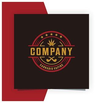 Конопля vaping логотип дизайн вдохновение