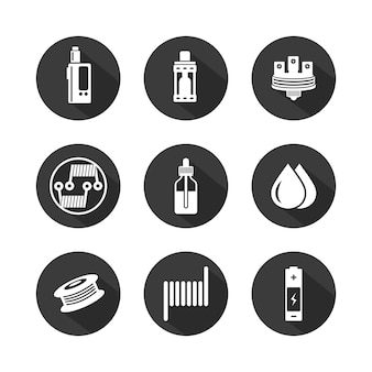 Vaporizer icon set